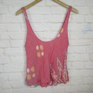 Indah Women's Size M Pink Abstract Tank Top